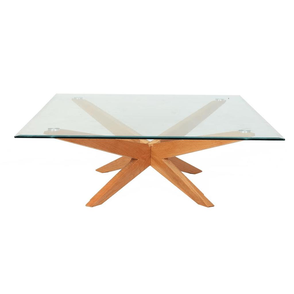 mesa escandinava baja rectangular xcm vidrio madera gc