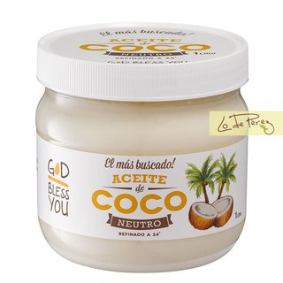 Aceite de coco God Bless You Filipinas neutro premium Lo de Pérez