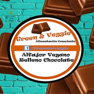 Alfajor Vegano De Chocolate Green & Veggie
