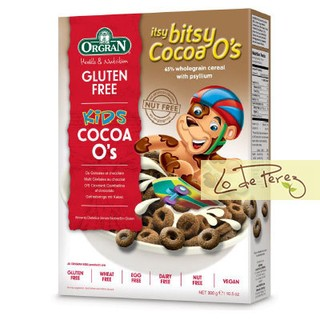 Aritos de Cereal Sabor Chocolate Orgran