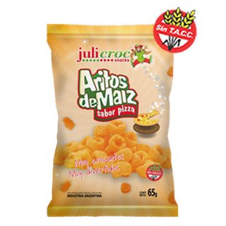 Aritos de Maíz Sabor Pizza x 65 gs. Julicroc