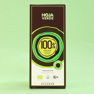 Chocolate 100% cacao x 50 gs Hoja Verde