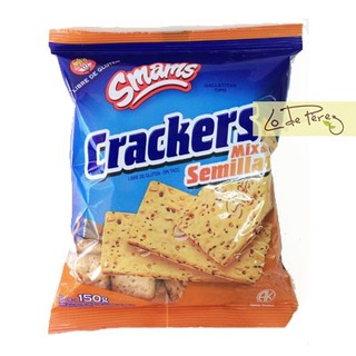 Galletitas Crackers Mix Semillas x 150 gs Smams