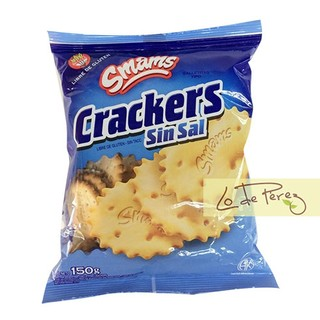 Galletitas Crackers Sin Sal y sin Gluten Smams