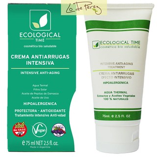 Crema antiarrugas intensiva gluten free ecological time