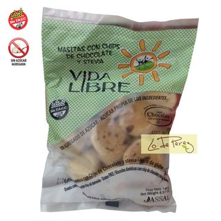 Galletitas de Chips de Chocolate con Stevia x 180 gs Vida Libre
