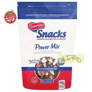 Snack Mix De Frutas Con Pasas Power Mix Dicomere