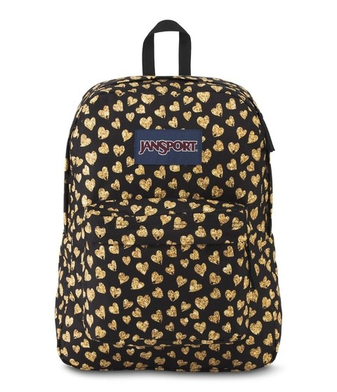 Mochila JANSPORT Superbreak Glitter Hearts