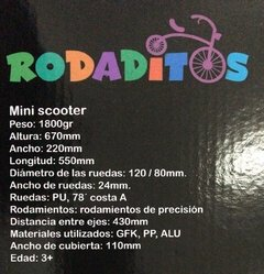 Monopatín Rodaditos Mini en internet