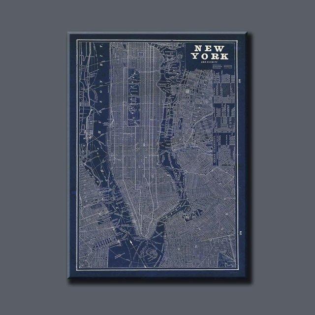Blueprint map new york artist sue schlabach blueprint map new york comprar online malvernweather Gallery