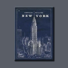 Blueprint Map New York Chrysler Building en internet