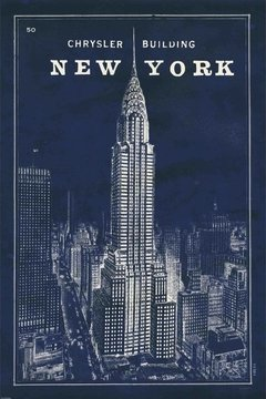 Blueprint Map New York Chrysler Building - Sur Arte Shop - Láminas y Cuadros