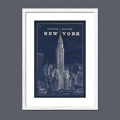 Blueprint Map New York Chrysler Building - tienda online