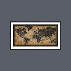 Old World Map - Sur Arte Shop - Láminas y Cuadros