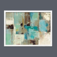 Teal and Aqua Reflections - Sur Arte Shop - Láminas y Cuadros