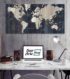 Old World Map Blue - comprar online