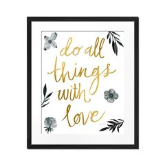 Do All Things With Love - Sur Arte Shop - Cuadros