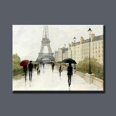 Eiffel in the Rain Marsala Umbrella - comprar online