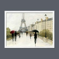 Eiffel in the Rain Marsala Umbrella - Sur Arte Shop - Cuadros