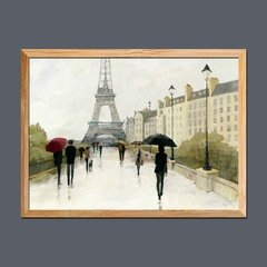 Imagen de Eiffel in the Rain Marsala Umbrella
