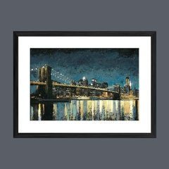 Bright City Lights Blue I - Sur Arte Shop - Láminas y Cuadros