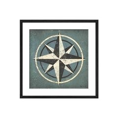Nautical Compass Blue - Sur Arte Shop - Láminas y Cuadros