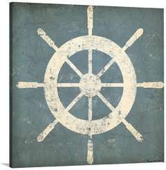 Nautical Shipwheel Blue