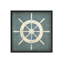 Nautical Shipwheel Blue en internet