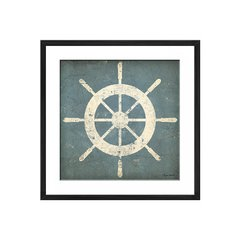 Nautical Shipwheel Blue - Sur Arte Shop - Cuadros
