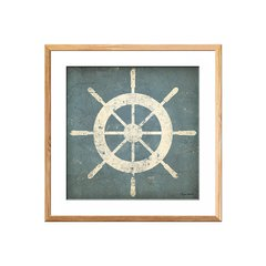 Nautical Shipwheel Blue - comprar online