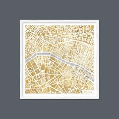 Gilded Paris Map - Sur Arte Shop - Láminas y Cuadros