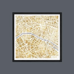 Gilded Paris Map - comprar online
