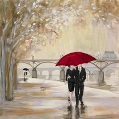 Romantic Paris III Red Umbrella en internet