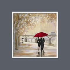 Romantic Paris III Red Umbrella - Sur Arte Shop - Láminas y Cuadros