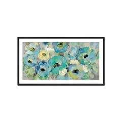 Fresh Teal Flowers - Sur Arte Shop - Láminas y Cuadros