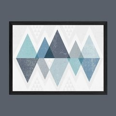 Mod Triangles II Blue - Sur Arte Shop - Cuadros