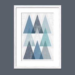 Mod Triangles IV Blue - Sur Arte Shop - Cuadros