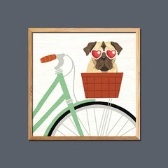 Beach Bums Pug Bicycle I - Sur Arte Shop - Láminas y Cuadros