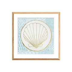 Summer Shells IV Teal and Gold - comprar online