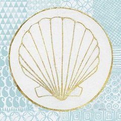 Summer Shells IV Teal and Gold en internet