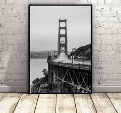 San Fran Bridge in Black and White