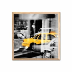 Yellow Taxi Reflection