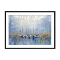 Boats on the Harbor I - Sur Arte Shop - Láminas y Cuadros
