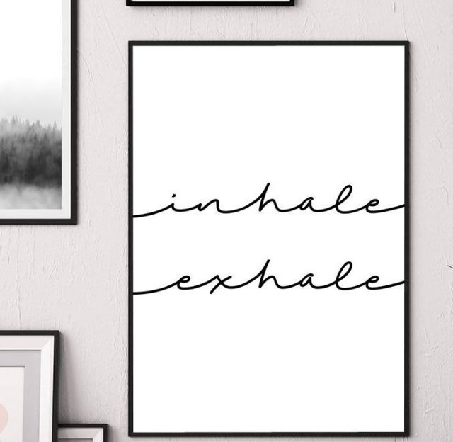 Inhale Exhale In Black And White