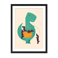 TRex and the Basketful of Wiener Dogs - Sur Arte Shop - Cuadros