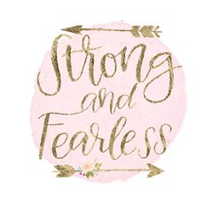Girl Power I Strong and Fearless - Sur Arte Shop - Cuadros