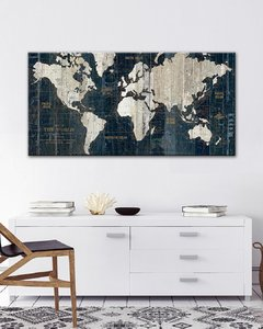 Antique Map in Blue