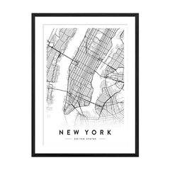 New York City Map - Sur Arte Shop - Cuadros