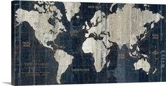 Old World Map Blue en internet