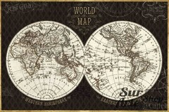 Hemisphere I Black Map en internet